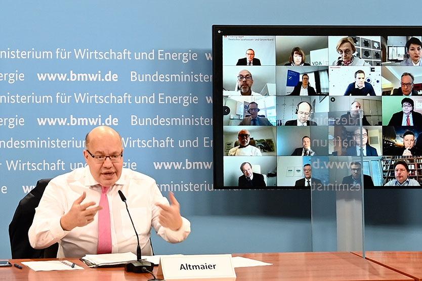 BAGSV-Mitglieder beim Wirtschaftsgipfel mit Minister Altmaier
