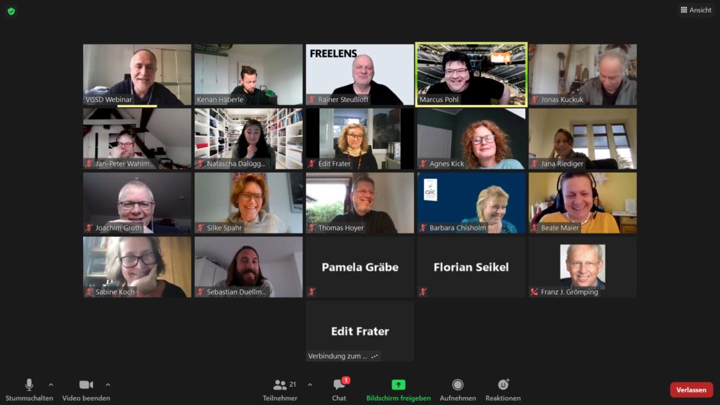 Interne Videokonferenz: Neue Aufstellung