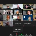 Teilnehmer:innen der Videokonferenz.
