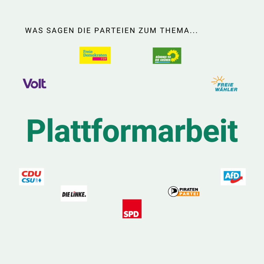 BAGSV-Wahlprüfstein Nr. 8: zum Thema Plattformarbeit